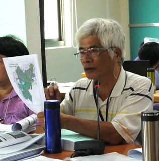 台南荒野分會成員張讚合指責統一企業在台南起家,但提出這樣的開發案,對台南土地的責任感何在