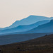 Blue mist from volcano eruption