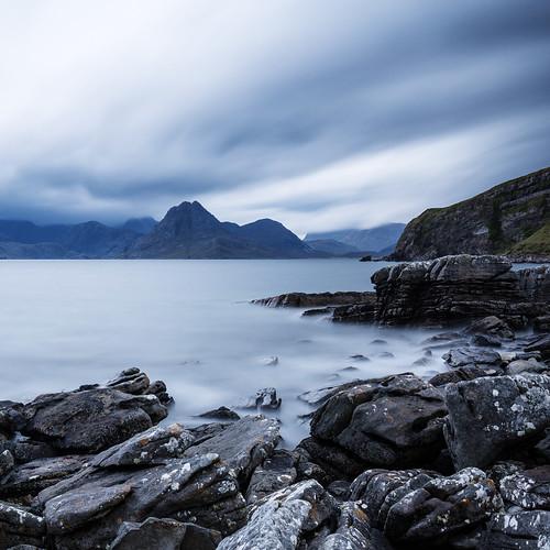 longexposure sea mountains skye nature rain canon bay scotland rocks day isleofskye cloudy ngc cuillins cuillinhills elgol