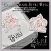 Light Pink Diamond-Diamond Double Aussie-Platinum Ring-Zuri Rayna Jewelry