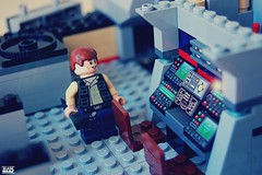 Han builds the control panel