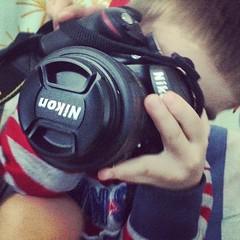 My little #photographer.
