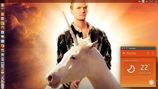 Ubuntu 14.10 Utopic Unicorn hehe