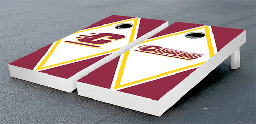 Central Michigan Chippewas Cornhole Game Set Alt Diamond Wooden