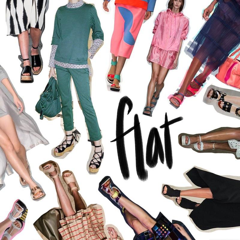 LFW flat shoes