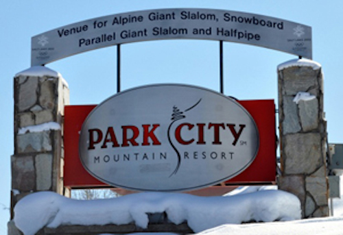 Park City Mountain Resort sign