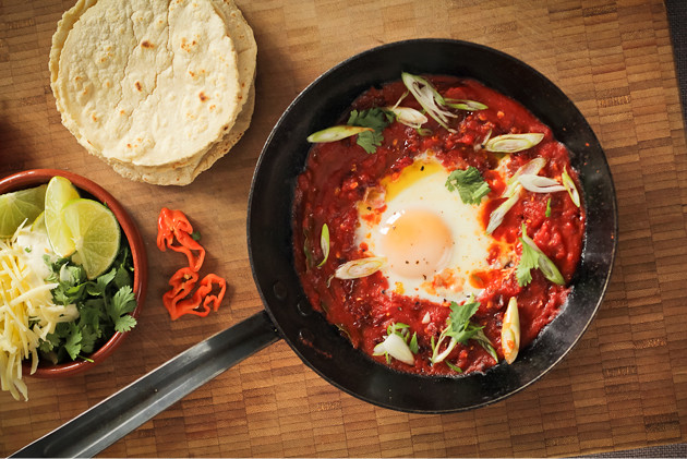 Huevos Rancheros with Fresh Corn Tortillas