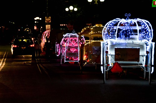 Light up horse carriages