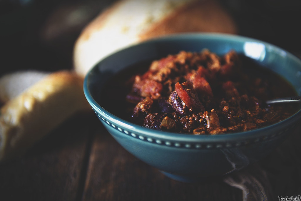 Slow Cooker Turkey Chili || GirlCarnivore.com