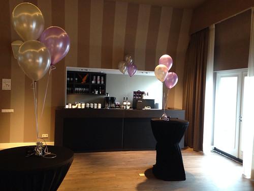 Tafeldecoratie 3ballonnen Fletcher Hotel Ouddorp