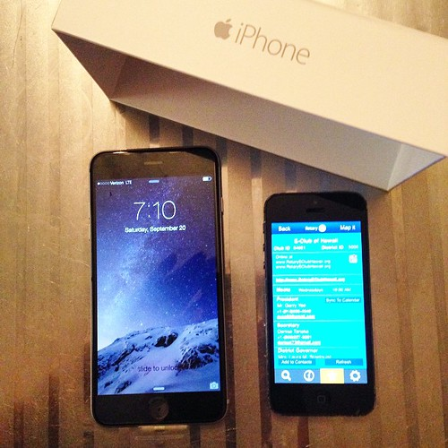 iPhone6とiPhone6Plus