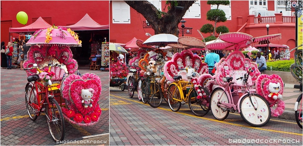 jonker, jonker street, jonker walk, malacca, hello kitty,rickshaw,hellow kitty rickshaw,trishaw,hello kitty trishaw,malaysia, travels, 马六甲, 鸡场街