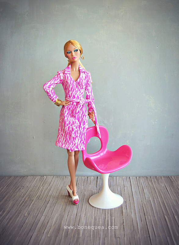 Poppy Parker Groovy Galore & the iconic wrap dress by Diane von Furstenberg