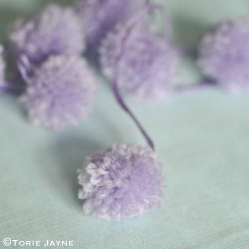 Lilac pom poms