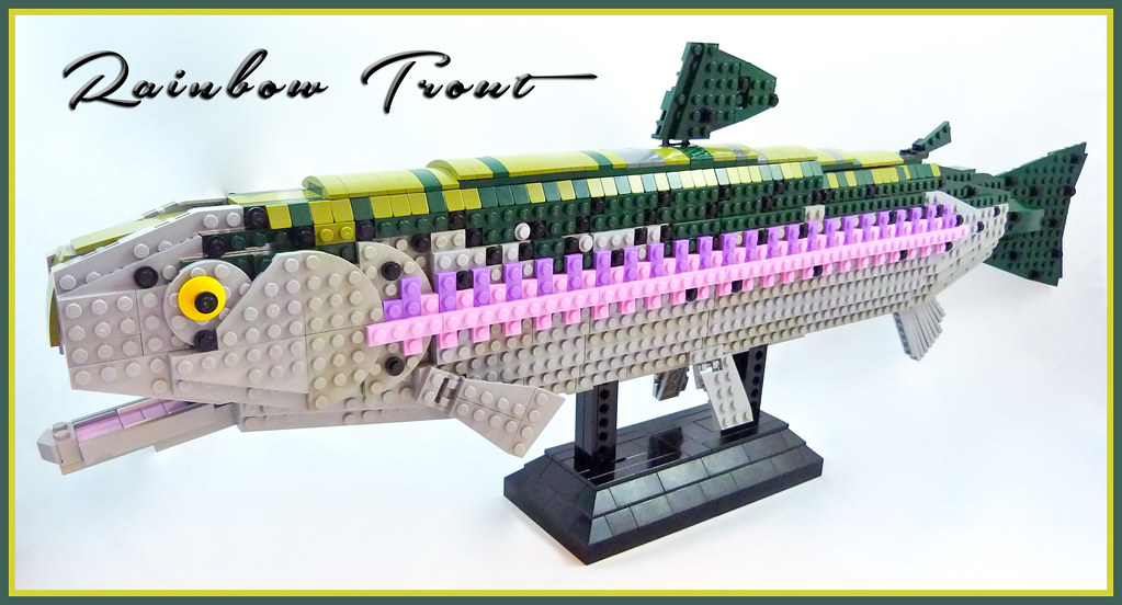 LEGO Rainbow Trout (custom built Lego model)