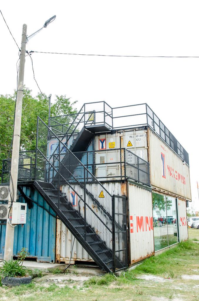 Container shop at Pantai Redang Beach Sekinchan