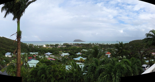 guadeloupe basseterre caraïbesbonheur hotel caraibesbonheur ansedupetitbasvent basvent bay sea island palms panorama rainbow caribbean