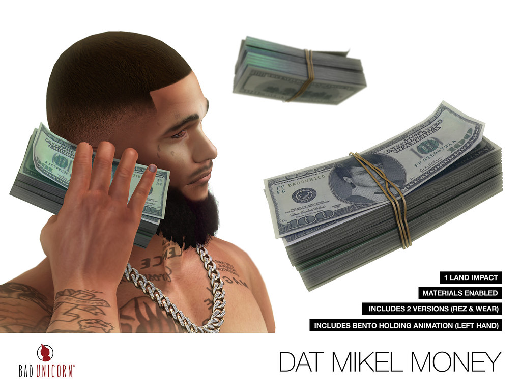 NEW! Dat Mikel Money @ Bad Unicorn Mainstore - SecondLifeHub.com