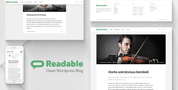 Readable WordPress Theme free download