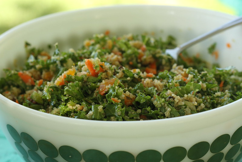 vegan quinoa and kale salad