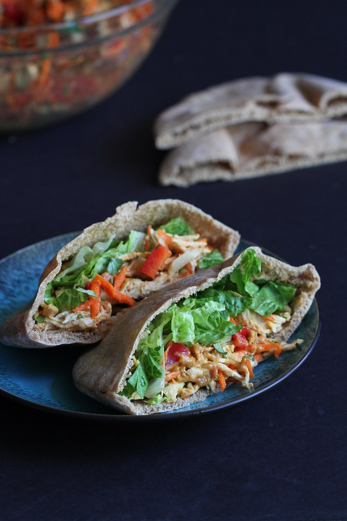 Thai Chicken Pita Sandwich Recipe