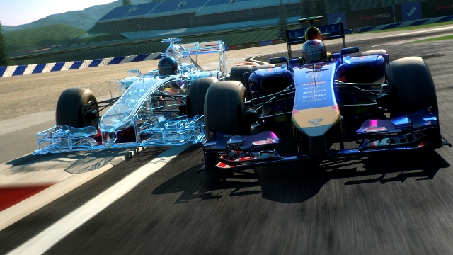 Screenshot of the F1 CGI Spielberg Race Track Introduction 2014. Featuring Sebastian Vettel and Daniel Ricciardo. // Peter Clausen Film & TV / Red Bull Content Pool // P-20140610-00120 // Usage for editorial use only // Please go to www.redbullcontentpool