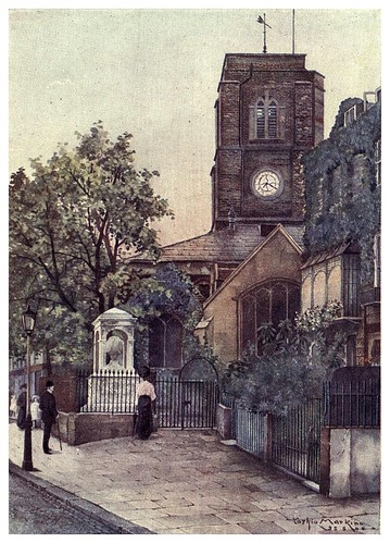 003-Iglesia de Chelsea-A Japanese artist in London (1910)- Yoshio Markino
