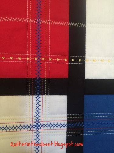 Mondrian inspired modern mini quilt