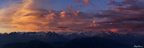 sunset panorama mountain alps swiss luzern pilatus lucerne pilate