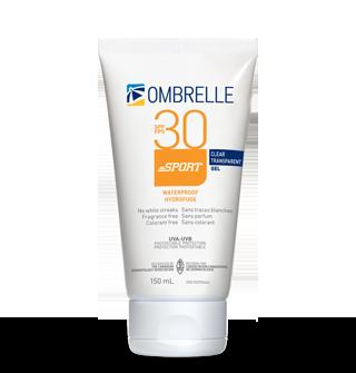 ombrelle-clear-gel, sun protection, sun screen, sport sunscreen