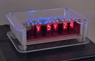 nixie clock case with plastic sides