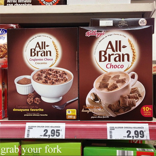 Chocolate All-Bran in a Spanish supermarket