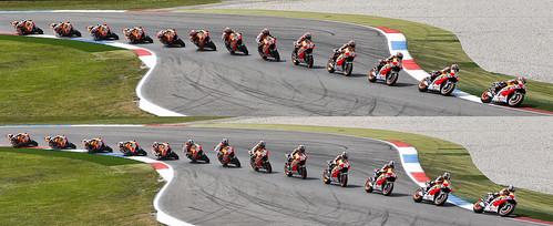 Marquez y Pedrosa secuencia curva