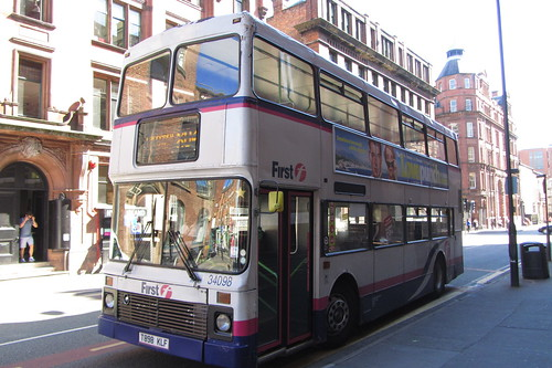 Volvo Olympian T898 KLF, First Greater Manchester, Lever Street, Manchester