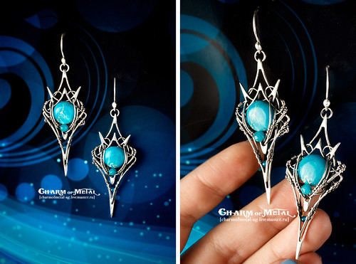 """""""Teleri Elf"""" Silver Earrings"""