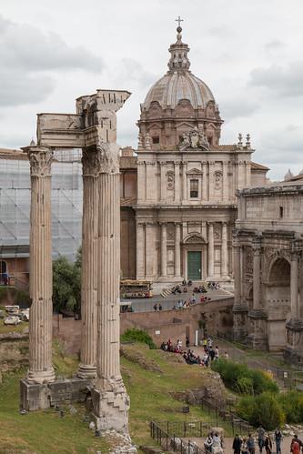 italy rome public architecture landscape ruins ruin