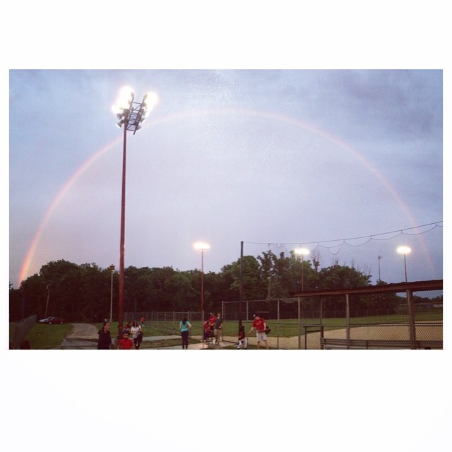 Rainbow at our last ball game.