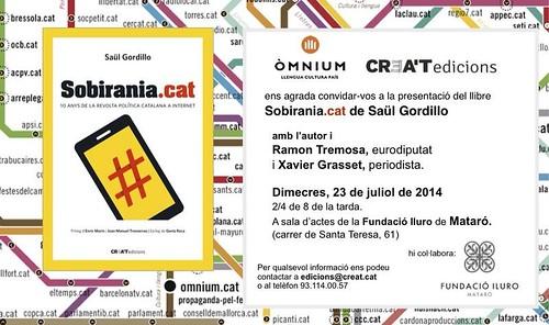 Targetó presentació Sobirania.cat a Mataró