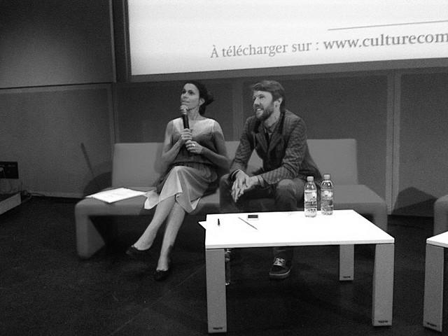 Aurélie Filippetti et Steven Hearn