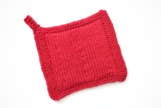Milly And Tilly Double Knit Potholder