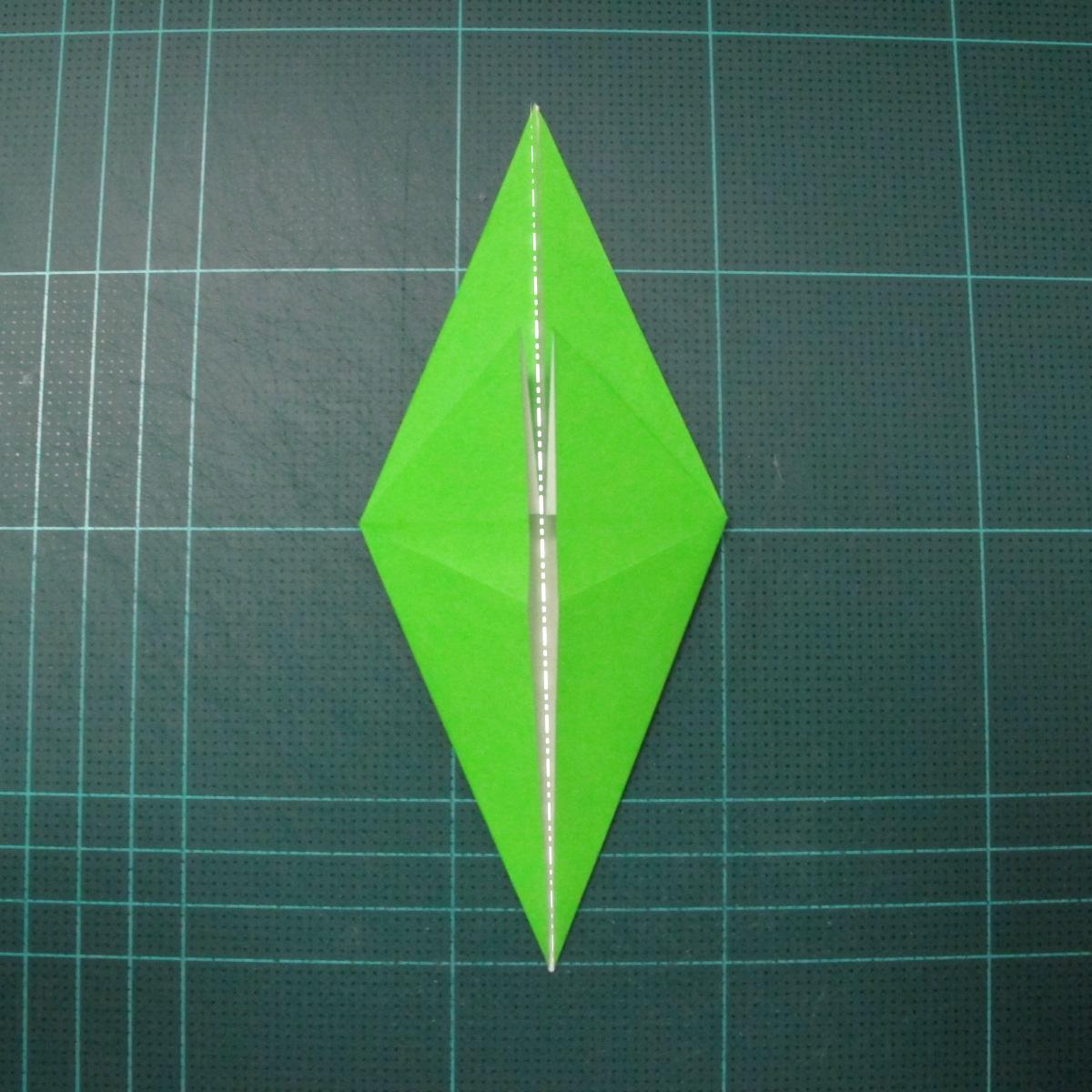 การพับกระดาษเป็นรูปแมวน้ำ (Origami Seal) 003