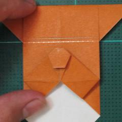 วิธีพับกระดาษเป็นที่คั่นหนังสือรูปหมาบูลด็อก (Origami Bulldog Bookmark) 016