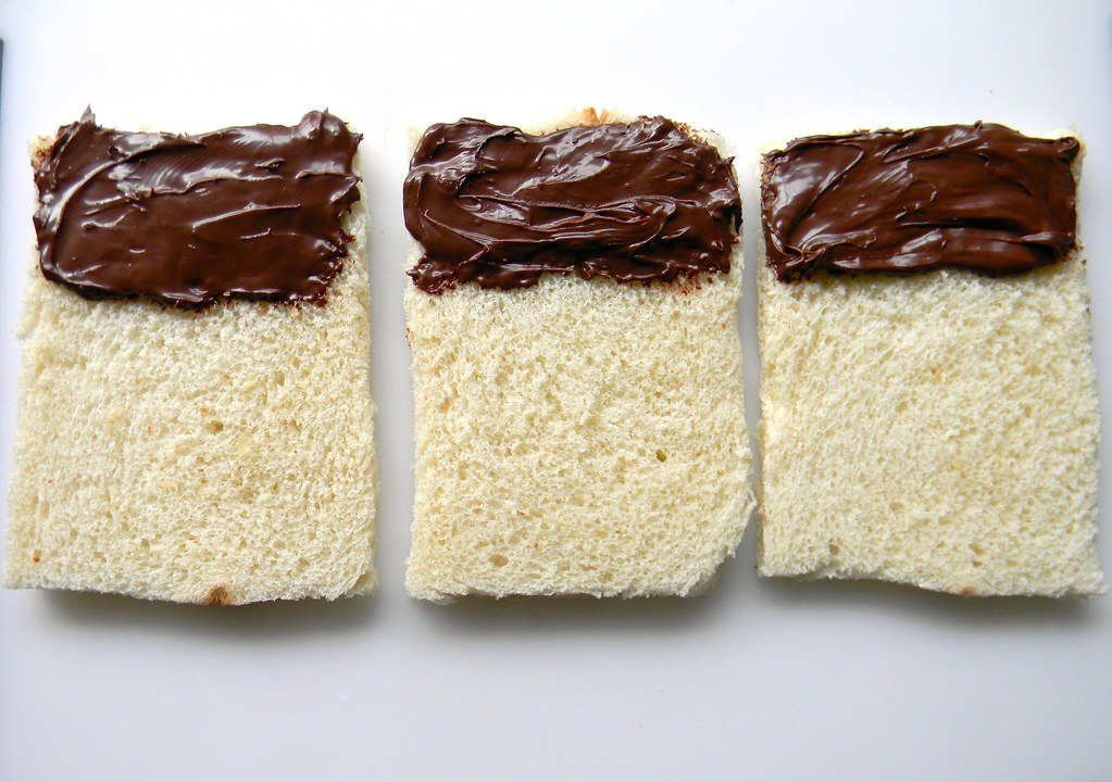 Putting Nutella on Bread