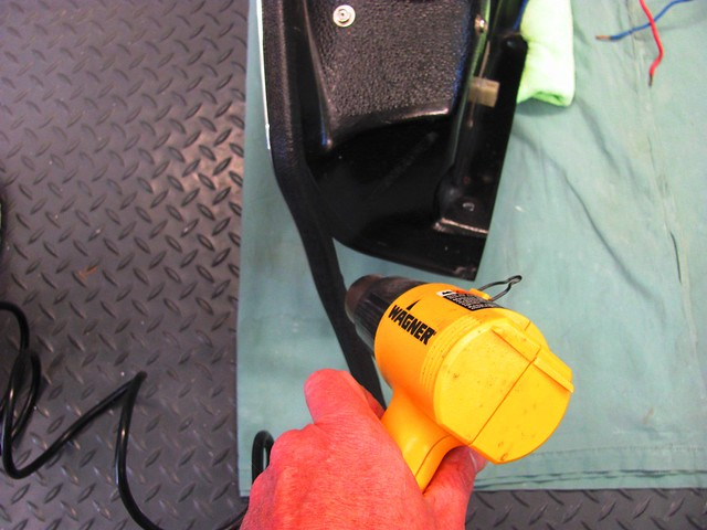 Heating Chrome Trim with Heat Gun to Form to Tight Radius Curves