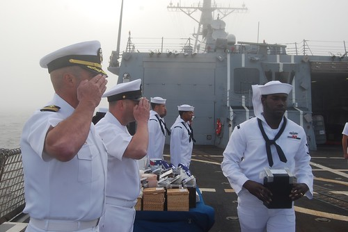 USS Shoup Performs 22 Burials at Sea