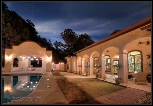 house home pool architecture night casa exterior naturallight spanish recreation bluehour bedbreakfast southwestern lahacienda cochranmill hattaway chattahoocheehillcountry cacklecorner