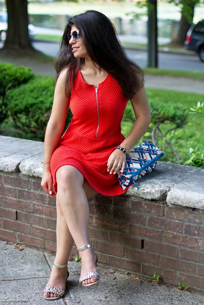 orange dress, woven clutch-2.jpg