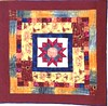 Vineyard Star at Sunset 42x42 inch art quilt 2013