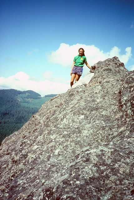 Julia King on top of Rooster Rock