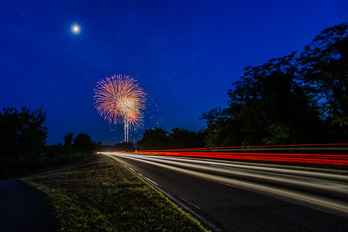 Fireworks Along the Parkway by Geoff Livingston